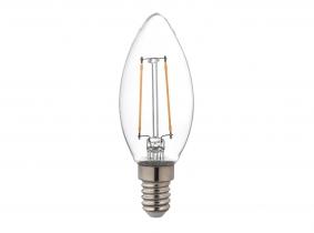 AdLuminis LED-Fadenlampe Candle C35 klar E14