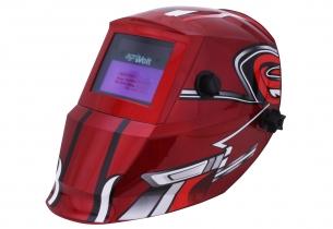 Automatik Schweißhelm Racing Rot